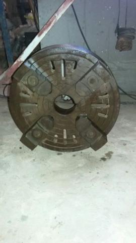 Placa de Torno Mecânico de 4 castanha, diâmetro 400 mm para Torno 650