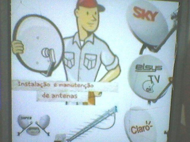 Instalação de antenas via satélite