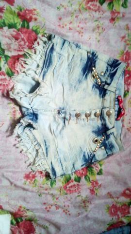 Shorts Jeans Lindos!! Novos!! Acabaram De Chegar Da Loja!!