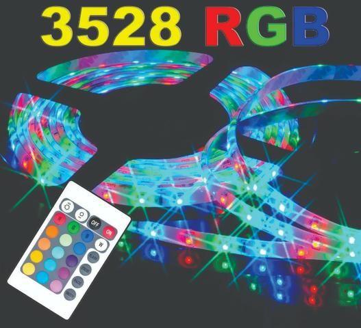 Fita de Led 3528 RGB com controle remoto