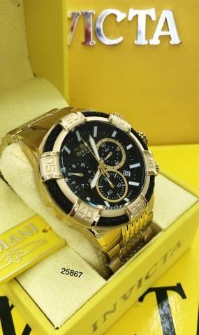 beb89dab9738f Relógios invicta originais! Banhados a ouro - Bijouterias