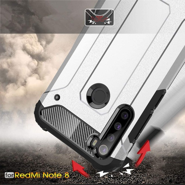 Capa De Celular Anti-impacto Preta Para Xiaomi Redmi Note 8 - Foto 3