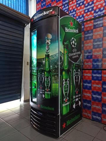 Cervejeira metal frio Heineken 497 litros - Foto 3