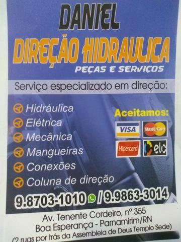 Serviço de direção elétrica e hidráulica, Daniel direção peças e serviços