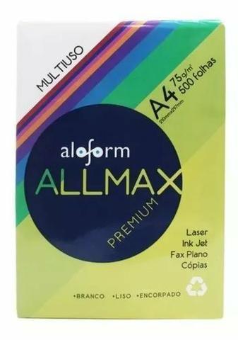 Caixa A4 Allmax Premium 75g 5 Resmas 2500 Folhas