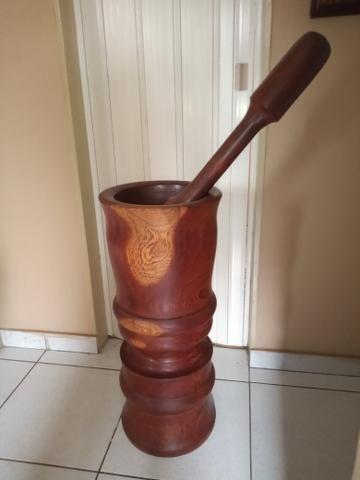 Socador madeira Pilão 75 cm altura