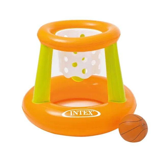 Brinquedo Cesta De Basquete Flutuante Inflável 67x55cm - Intex 58504
