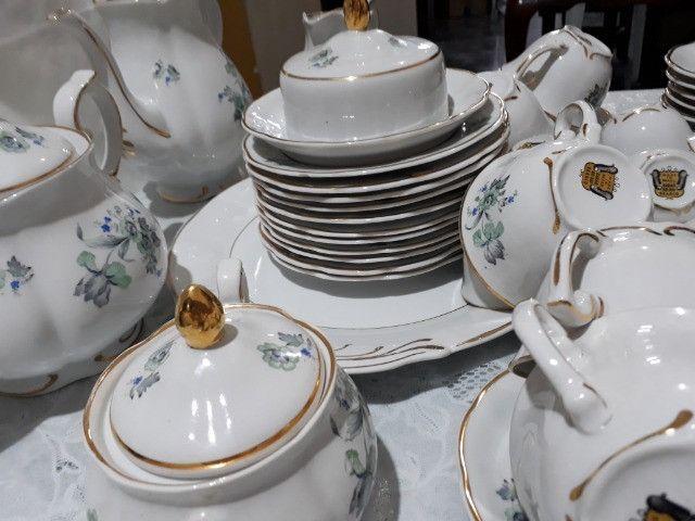Jogo de café, chá e bolo Porcelana Barão do Rio Branco - Foto 4
