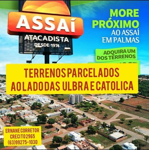 Terrenos parcelados próximo as faculdades ulbra e católica e supermercado assaí