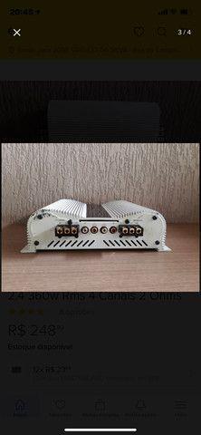 Módulo Amplificador Banda Voxer 2.4 360w Rms 4 Canais 2 Ohms - Foto 3