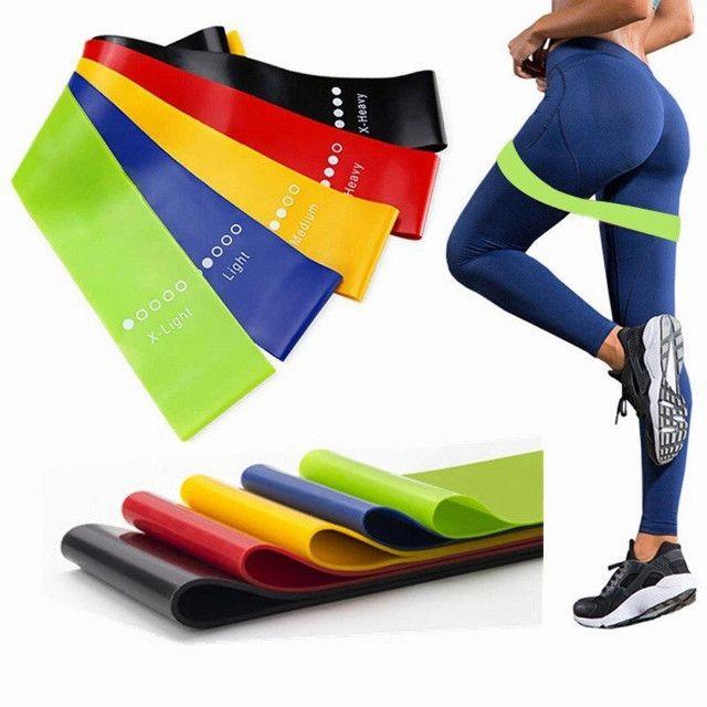 Treine em casa Elastico exercicio academia kit