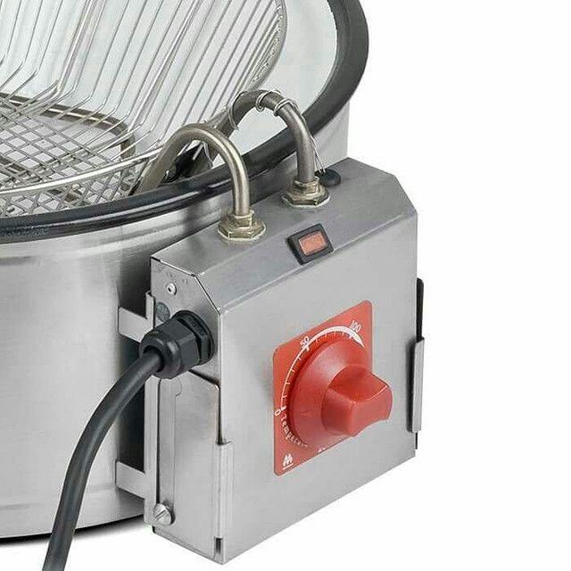 Fritadeira elétrica com Cuba esmaltada marchesoni em 127 v ou 220 v - Foto 6
