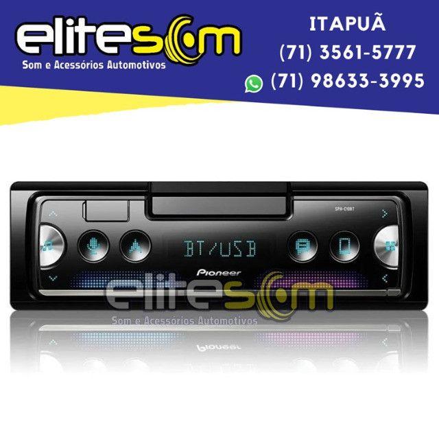 Aparelho Pioneer Sph-c10bt Smartphone Bluetooth Smart Sync instalado na Elite Som - Foto 8