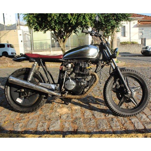 Moto Coffe Racer Custom - CB 400 82 Estilizada Tracker 1982 - Foto 3