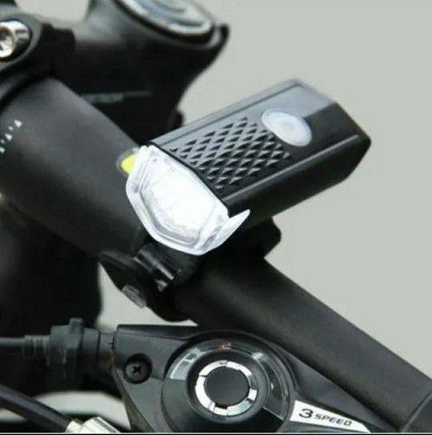 Kit Lanterna Dianteira e Traseira Led Bicicleta - Promoção  - Foto 3