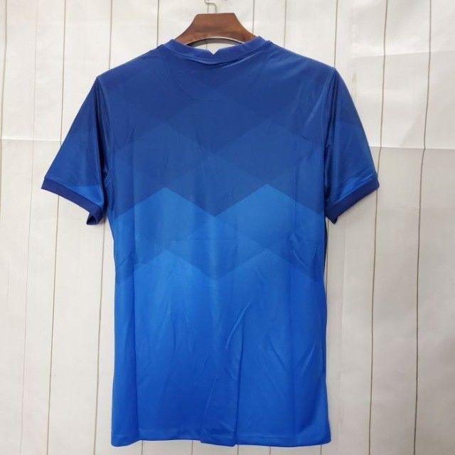 Camisa Brasil II 20/21 S/nº Azul  - Foto 2