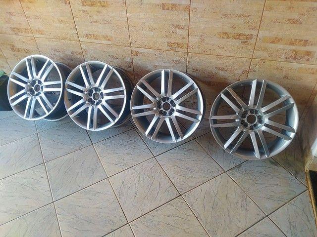 Rodas aro 19 5 furos com 2 pneus - Foto 3