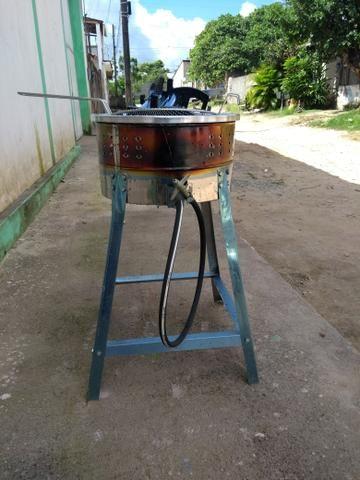 Tacho a gás e cilindro manual