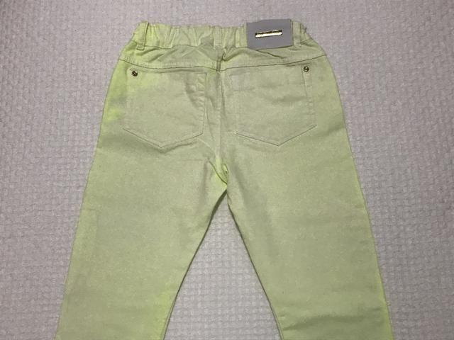 Calça jeans amarelo flúor Tam 12 - Foto 2