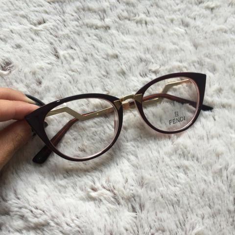 774473adef61a Armação de óculos de grau fendi gatinho - Bijouterias