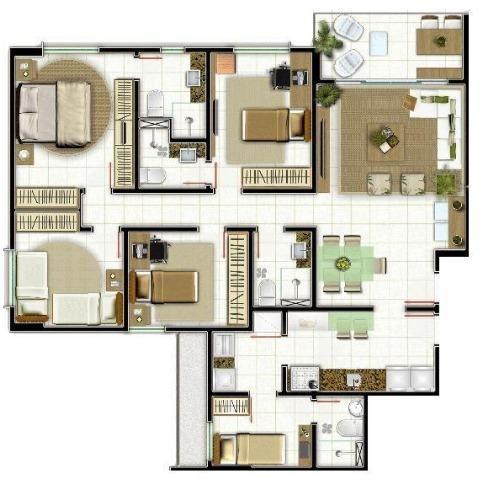 Capim Macio, 4 quartos sd duas suítes, 120m², 670 mil - Foto 14