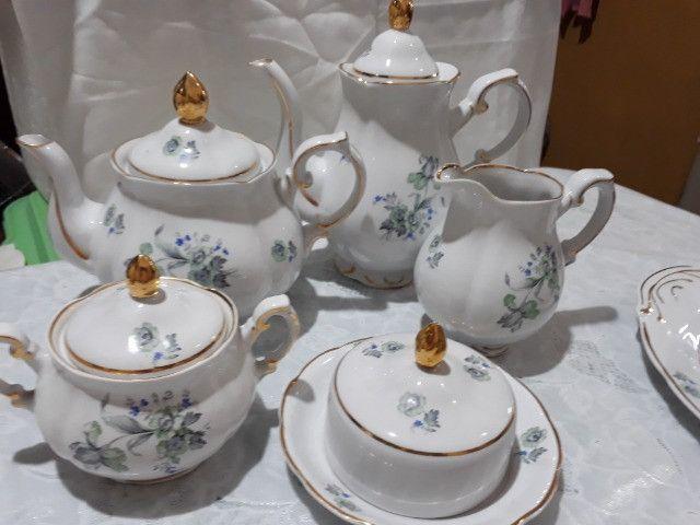 Jogo de café, chá e bolo Porcelana Barão do Rio Branco - Foto 5