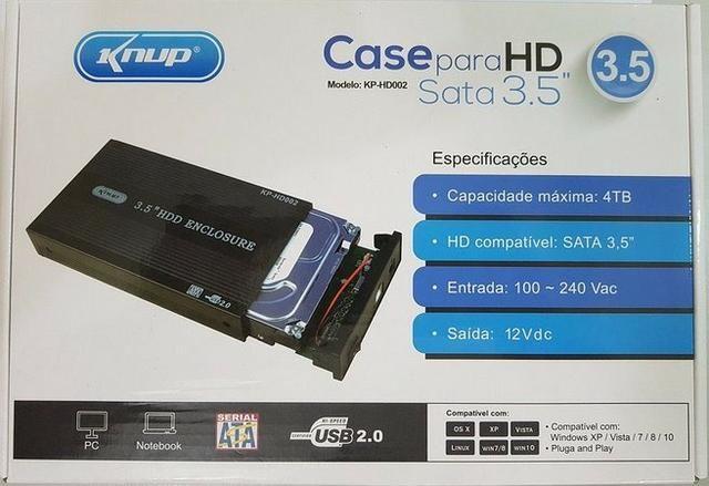 Case Gaveta 3.5 Externa Hd Sata Desktop Pc Knup - Foto 3