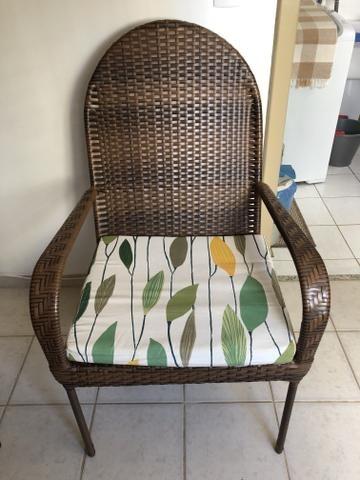 Conjunto de cadeira em vime - Foto 2