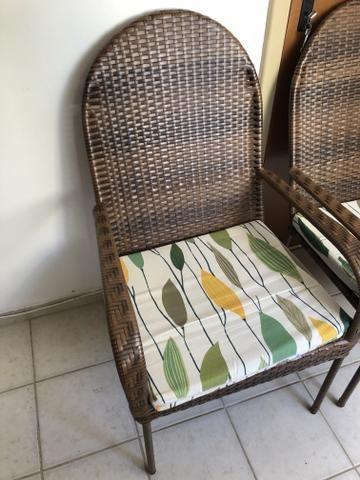 Conjunto de cadeira em vime - Foto 5