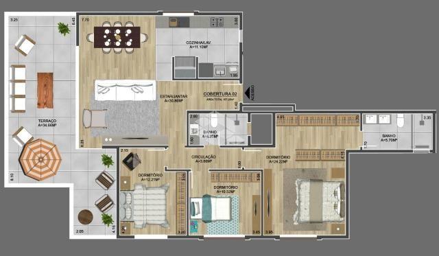 Apartamento à venda com 3 dormitórios em Centro, Garibaldi cod:9915448 - Foto 5