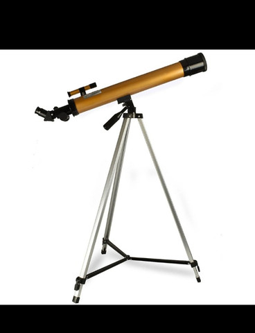 Telescopio refrator profissional completo 50× 100×