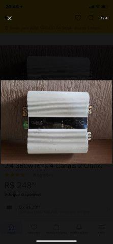 Módulo Amplificador Banda Voxer 2.4 360w Rms 4 Canais 2 Ohms