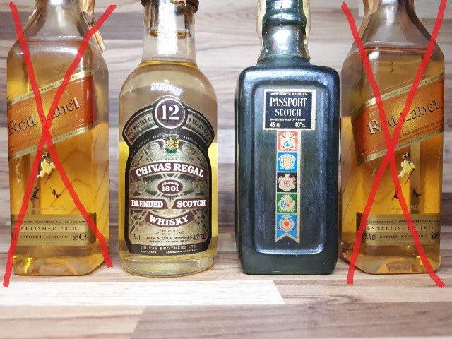 Mini Garrafinhas Colecionáveis de Whisky (Lote) - Foto 2