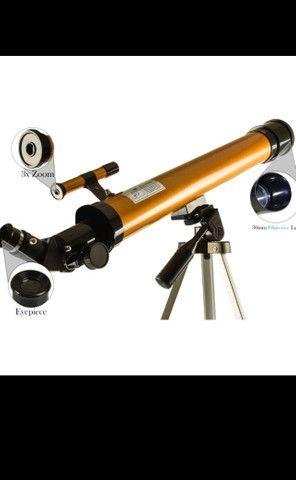 Telescopio refrator profissional completo 50× 100× - Foto 3