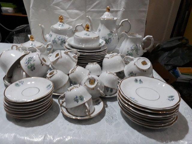 Jogo de café, chá e bolo Porcelana Barão do Rio Branco