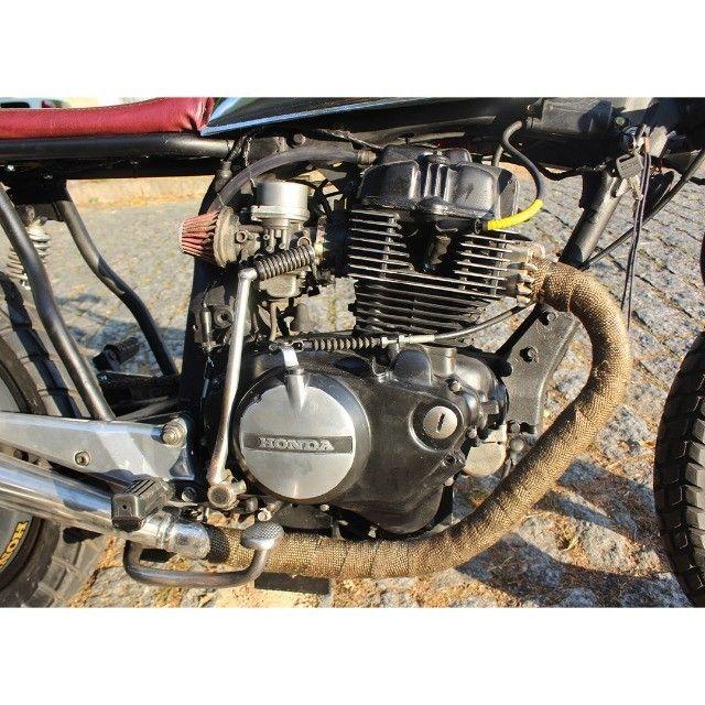Moto Coffe Racer Custom - CB 400 82 Estilizada Tracker 1982 - Foto 16