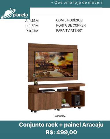 Rack + Painel Aracaju conjunto Sala de estar multiuso 72