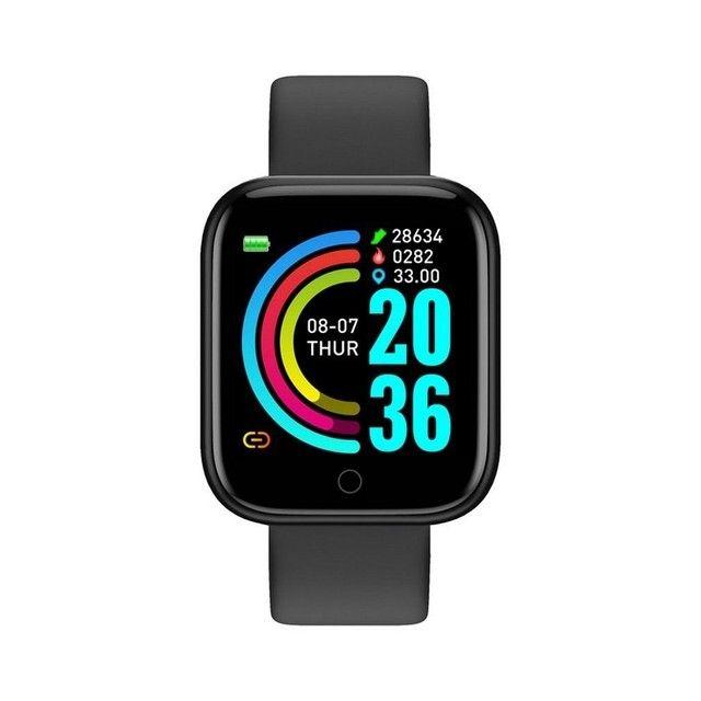 Y68 D20 Relógio Smart Watch com Bluetooth USB com Monitor Cardíaco - Foto 2