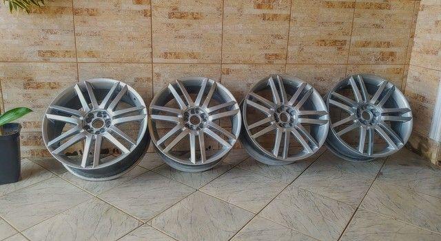 Rodas aro 19 5 furos com 2 pneus - Foto 2