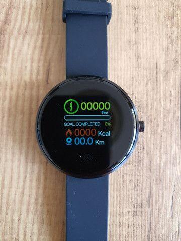 "Smartwatch Lemfo Tela 1,3"" Monitor Cardíaco Prova d'água  - Foto 3"