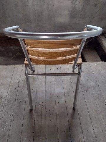 Cadeiras Alumínio e Madeira - Foto 2
