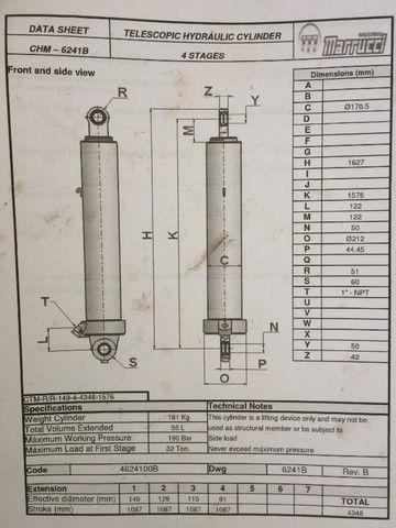 Cilindro hidráulico telescópico marrucci - Foto 2