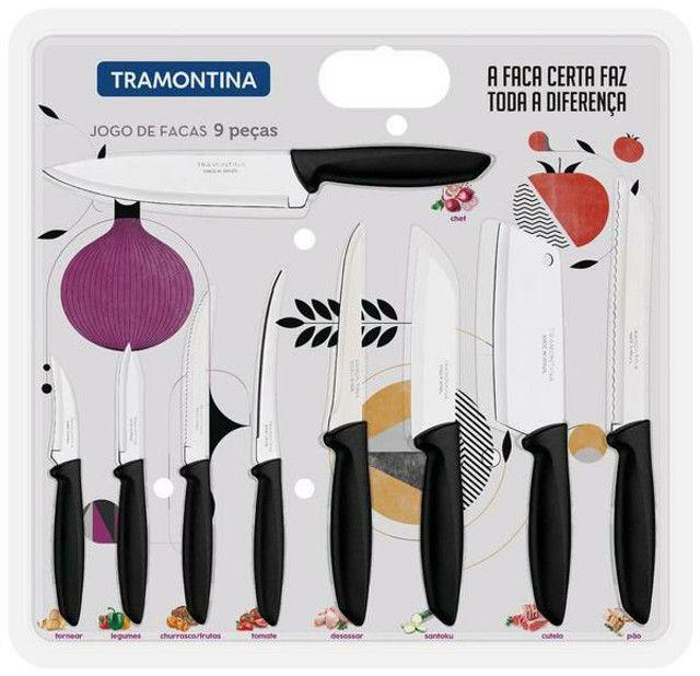 Vendo jogo de faca Tramontina 9 peças