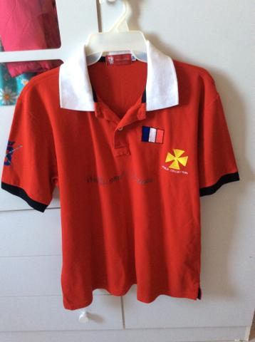 Camisa polo vermelha polo collection GG