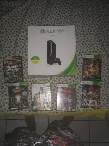 Xbox 360 com 6 jogos originais