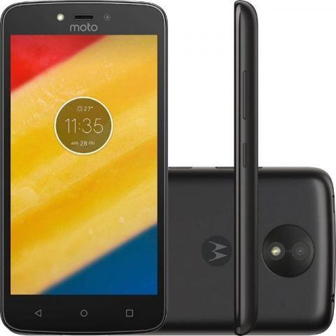 Celular Motorola Moto C Dual Sim 16gb 5'' 5mp/2mp novo - Preto Com garantia de 3 meses