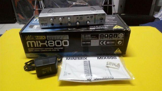 Processador Para Voz Em Karaoke - Behringer Minimix Mix800