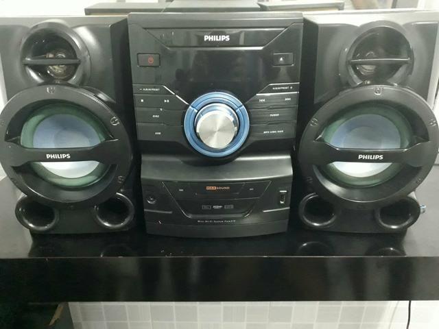 Mini system semi novo pega pen drive MP3 CD
