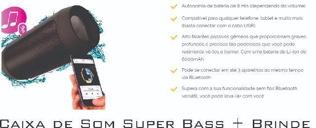 Caixa de Som Super Bass + Brinde