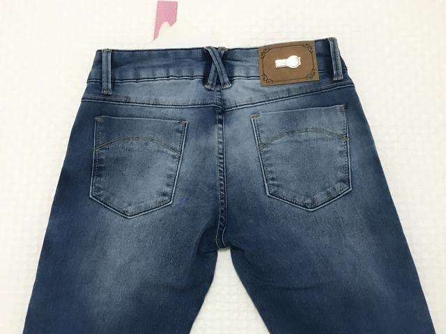 Calça jeans flaire menina Tam 14 - Foto 3